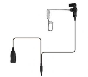 Surveillance Two-Wire Earpiece with Acoustic Tube